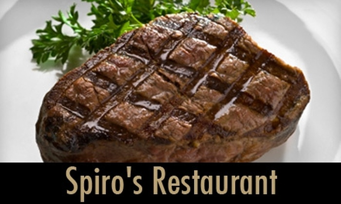 Spiro's Restaurant - Lindenwood Park: $12 for $25 Worth of Mediterranean Dinner Fare at Spiro's South (or $7 for $15 Worth of Lunch)