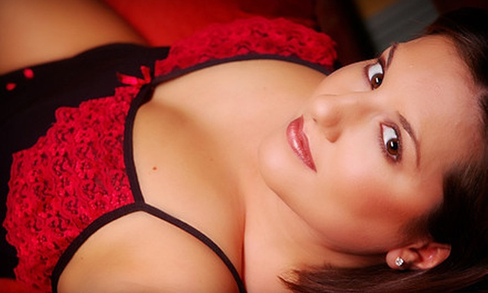 Red Shoe Boudoir - Central Business District: $99 for One-Hour Boudoir Photo Shoot and 20 Airbrushed Proofs at Red Shoe Boudoir ($200 Value)