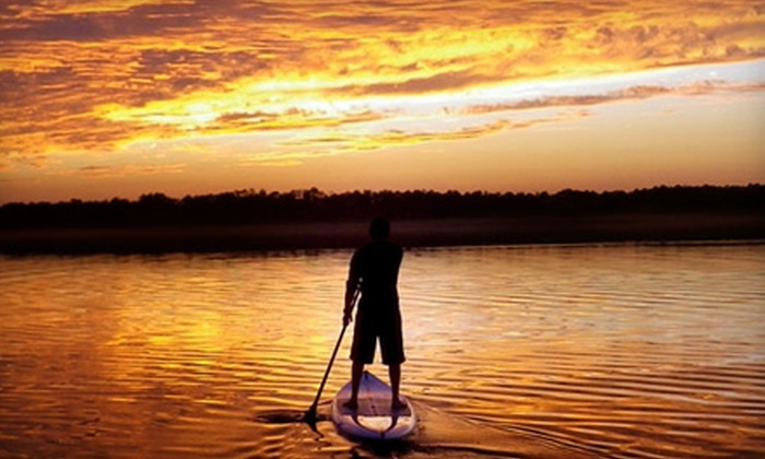 Wave of Wellness - Multiple Locations: 90-Minute Standup-Paddleboard Excursion for Two, Four, or Six from Wave of Wellness