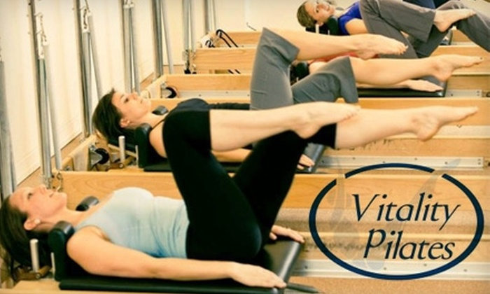 Vitality Pilates - Multiple Locations: $49 for a Seven-Class, Seven-Week Series of Introductory Reformer Pilates Classes at Vitality Pilates ($134.50 Value)