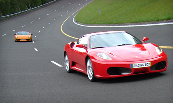 Racing Box - Summit Point: Luxury-Car Driving Experience with One, Two, Three, Five, or Nine Laps in a Ferrari, Lamborghini, or Aston Martin at Racing Box in Summit Point (Up to 62% Off)