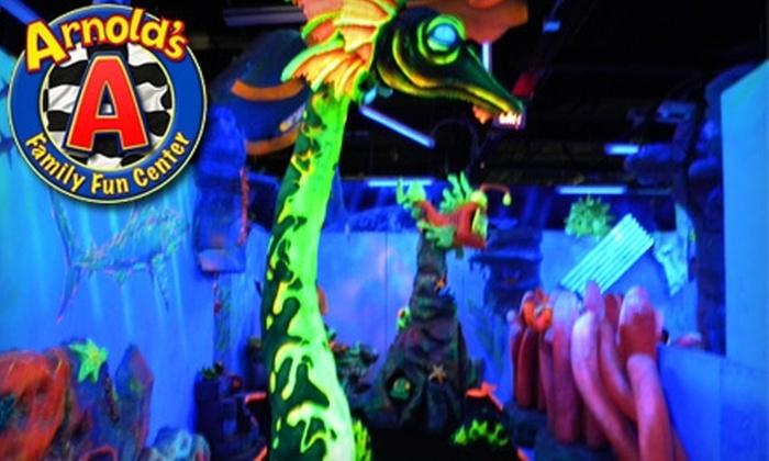 Arnold's Family Fun Center - Philadelphia: $12 for a Four-Ride Play Pass Plus 500 Arcade Points at Arnold's Family Fun Center in Oaks ($24 Value)