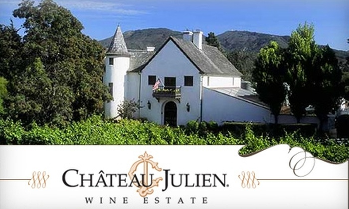 "Château Julien Wine Estate - Carmel: $40 for a Private Vintner Salon ""Decades of Wine"" Tasting for Two at Château Julien Wine Estate in Carmel"