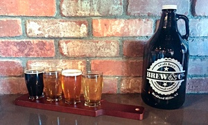Brew & Co.: Beer Flight and Growler for One or Two at Brew & Co. (Up to 45% Off)