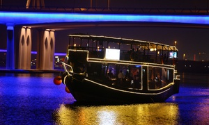 Amazon Tours: Glass Dhow Cruise With Dinner For an Adult (AED 109) Plus Child (AED 59) at Amazon Tours (Up to 61% Off)