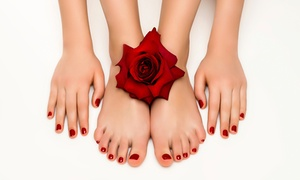 Nail Boutique: One or Three Mani-Pedi with Optional No-Chip at Nail Boutique (Up to 57% Off)