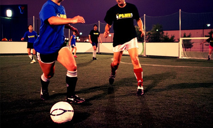 Four Plus One - Uptown: Six Weeks of Adult Recreational Soccer League Play for 1, 6, or 12 People from Four Plus One (Half Off)