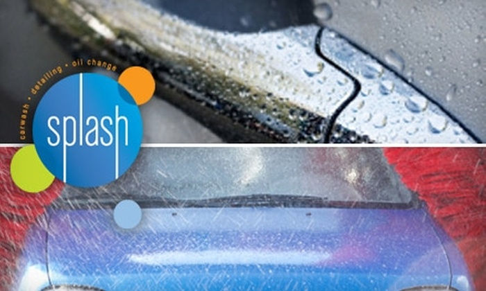 Splash Carwash - Multiple Locations: $24 for a Full-Service Oil Change and Exterior Wash with Rain-X at Splash Carwash ($49 Value)