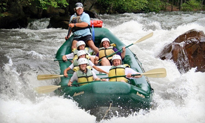 Adventures Unlimited - Ocoee: $80 for a Whitewater-Rafting Trip with One-Night Campout for Two from Adventures Unlimited in Ocoee (Up to $167.95 Value)