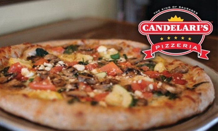 Candelari's Pizzaria - Multiple Locations: $10 for $20 Worth of Pizza & Drinks at Candelari's Pizzeria