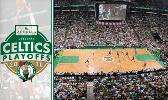 TD Garden - West End: TODAY'S DEAL IS SOLD OUT: $195 Celtics Playoff Package to the Celtics' First Home Game ($380 Value). Includes Suite Ticket and VIP Reception with 2008 Championship Trophy. Click Below for Game 2 Package.
