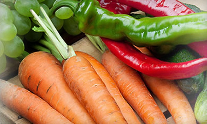Brown Box Veggies - Multiple Locations: $11 for a Large Box of Local Fruits and Vegetables from Brown Box Veggies ($22 Value). Four Locations Available.