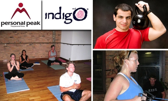 Personal Peak - Chicago: $40 for Three Yoga and Kettlebell Boot Camp Classes at Indigo
