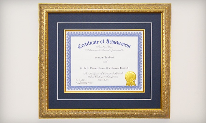 G&K Picture Frame Canada - Multiple Locations: $45 for $100 Toward Custom Framing at G&K Picture Frame Canada