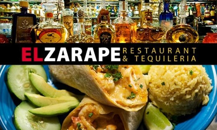 El Zarape - San Diego: Authentic Mexican Fare at El Zarape. Choose Between Two Options.