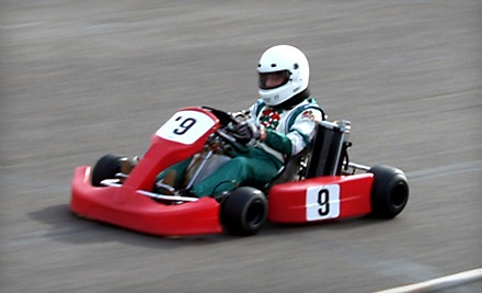 Two 15-Min Go-Kart Sessions with Head Sock Rental ($55 value) - Jet Karting in North Liberty