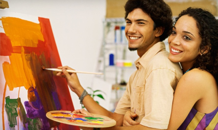 Oklahoma Canvas - Multiple Locations: Two- to Three-Hour Romantic or Social Painting Class for One or Two from Oklahoma Canvas (Up to 58% Off)