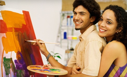 2-3 Hour Social Painting Class (up to a $45 value) - Oklahoma Canvas in