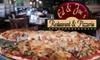 Ed n Joe's Restaurant & Pizzeria  - Tinley Park: $12 for $25 Worth of Pizza, Sandwiches, & More at Ed n Joe's Restaurant & Pizzeria in Tinley Park