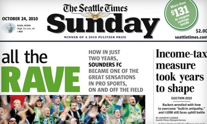 """The Seattle Times"" - Seattle: $20 for 26 Weeks of Sunday Paper Delivery from the ""Seattle Times"""