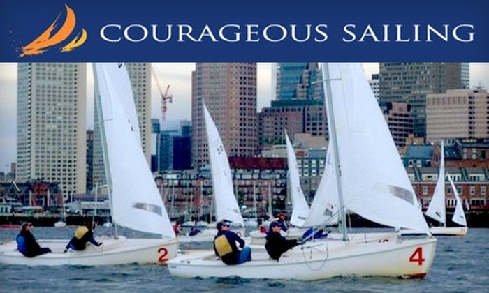 Courageous Sailing - Charlestown: $95 for a Two-Hour Private Sailing Lesson or Two-Hour Leisure Cruise for Three People at Courageous Sailing ($190 Value)