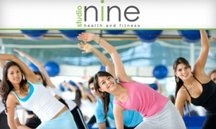Studio Nine Health & Fitness - North Creek: $35 for Two Group Training Sessions and Two Indoor Cycling or Yoga Classes at Studio Nine Health and Fitness in Woodinville ($100 Value)