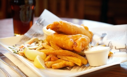 $20 Groupon to The Dog & Duck Public House & Restaurant - The Dog & Duck Public House & Restaurant in Calgary