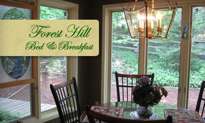 Forest Hill Bed & Breakfast - Meinzinger State Park: $40 for One Night Stay in the Master Suite ($95 Value) or $50 for the Forestview Suite ($105 Value) at Forest Hill Bed & Breakfast