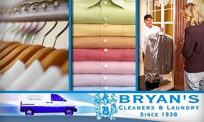 Bryan's Cleaners & Laundry - Multiple Locations: $20 for $40 Worth of Picked Up and Delivered Dry Cleaning Services from Bryan's Cleaners & Laundry