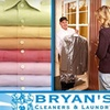 Half Off at Bryan's Cleaners & Laundry