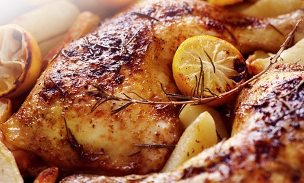 Grilled Chicken, Pitas, Mediterranean Food, and Drinks for Two or Four at Chick 'n Chop On The Grill (Up to Half Off)