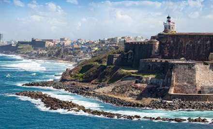 groupon daily deal - 2- or 3-Night Stay for Two in a Balcony Queen Room with Champagne at CasaBlanca Hotel in San Juan, Puerto Rico