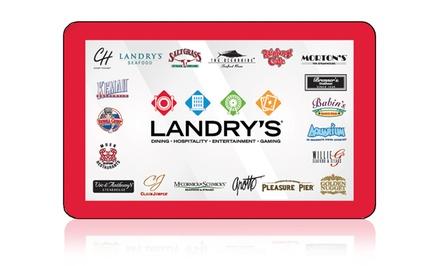 One $50 Landry's Restaurant eGift Card and One 8