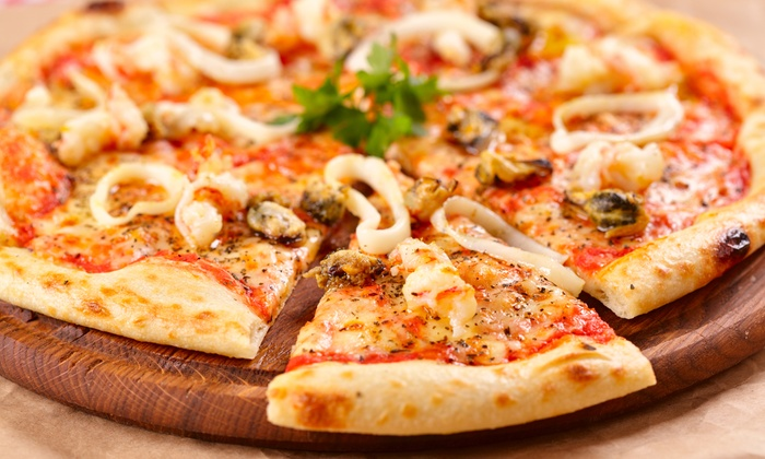 Georgio's House of Pizza - Carver: $19 for a Family Pizza Meal at Georgio's House of Pizza (Up to $32.50 Value)