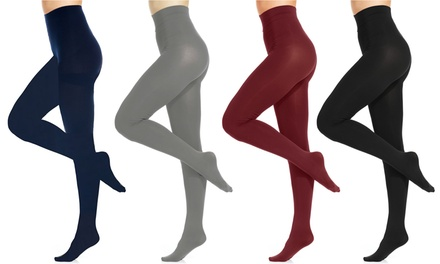 Sociology 2-Pack Opaque Footed Tights | Groupon Exclusive