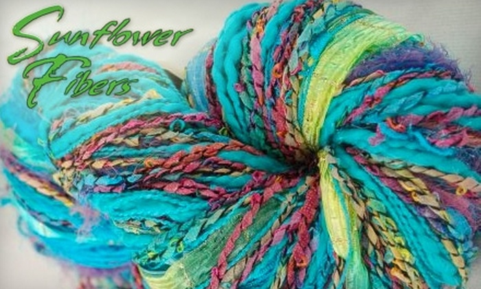 Sunflower Fibers - Downtown Fayetteville: $15 for $35 Worth of Yarn and Supplies at Sunflower Fibers