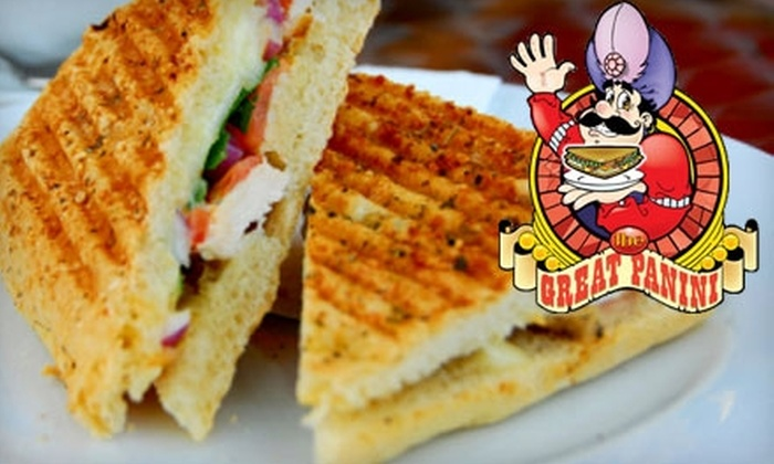 The Great Panini - Downtown: $5 for $10 Worth of Lunchtime Fare at The Great Panini