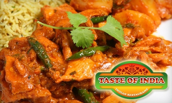 Taste of India - 4: $15 for $30 Worth of Indian Fare and Drinks at Taste of India in Franklin
