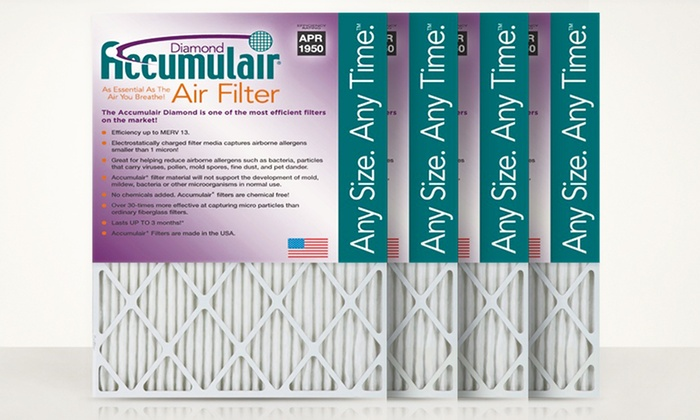 Accumulair Diamond Premium Air Filters (4-pack)