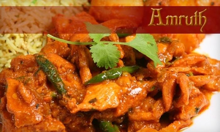 Amruth Authentic Indian Cusine - Walnut Valley: $10 for $20 Worth of Authentic Indian Fare at Amruth Indian Cuisine