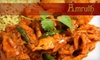 $10 for Fare at Amruth Indian Cuisine