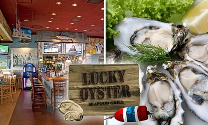 Lucky Oyster Seafood Grill - Virginia Beach: $10 for $20 Worth of Seafood, Pasta, Steaks, and More at Lucky Oyster Seafood Grill