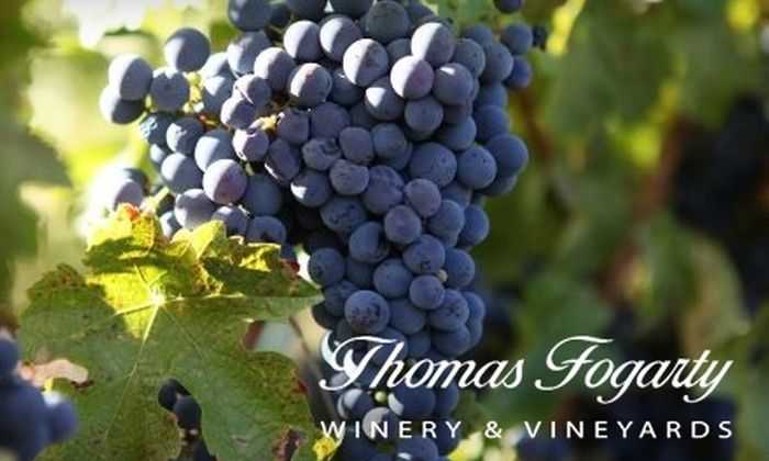 Thomas Fogarty Winery - Portola Valley: $12 for Two Custom Signature Tastings at Thomas Fogarty Winery in Woodside