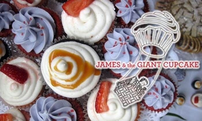 James and The Giant Cupcake - Paradise Park: $7 for a Dozen Mini Cupcakes at James and the Giant Cupcake in Oakland ($15 Value)