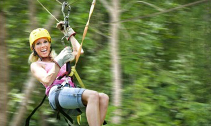 Kersey Valley Zipline - High Point: $44 for a Coach-Class Tour at Kersey Valley Zipline ($89 Value)