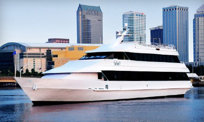 Yacht StarShip - Downtown: Three-Course Dinner Cruise for Two or Four from Yacht StarShip (56% Off)
