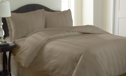 1,000-Thread-Count 3-Piece Woven Dobby-Stripe Reversible Duvet-Cover Set. Multiple Colors Available. Free Returns.