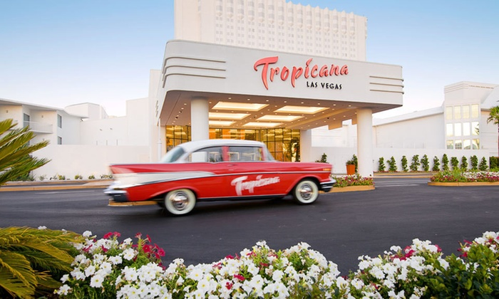 New Tropicana Las Vegas - The Strip: One-Night Stay for Two with a Bottle of Wine at New Tropicana Las Vegas