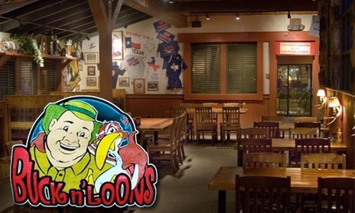 Buck n' Loons - Arlington: $10 for $20 Worth of American Fare at Buck n' Loons
