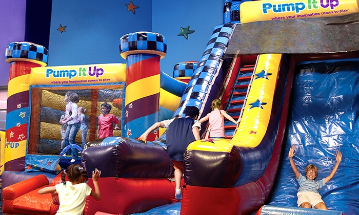Pump It Up - Urbandale: 5 or 10 Open-Jump Sessions or Two Jump N Jam Tween-Night Visits at Pump It Up (Up to 47% Value)